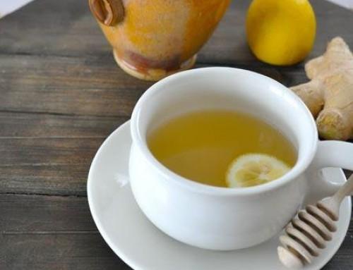 Ingverjev čaj s  cimetom, limono in medom