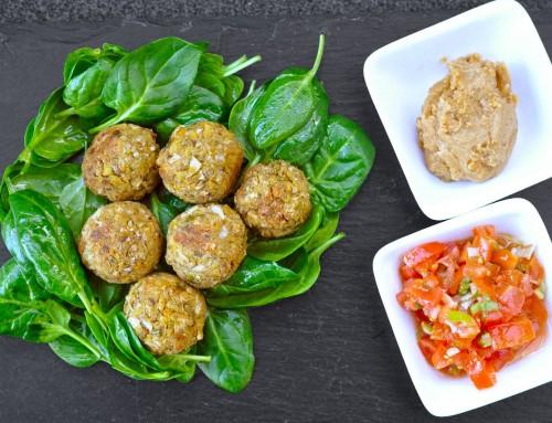 Zeliščni falafel s pistacijami – iz pečice