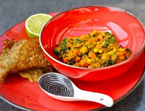 Indijski zelenjavni curry s čičeriko in moja Indija